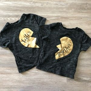 Twin better together shirts